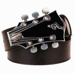 Pasek z klamrą w kształcie główki gitary ze stroikami - 9 kolorów