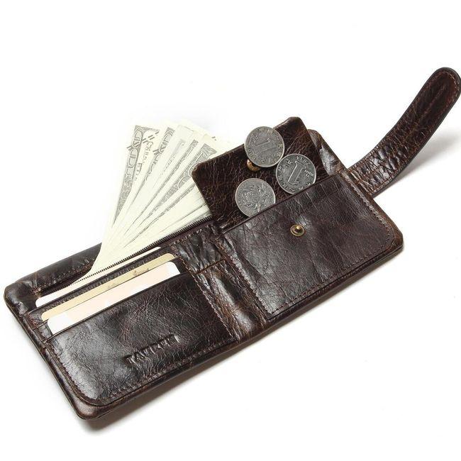 Férfi pénztárca csattal - 2 változat
