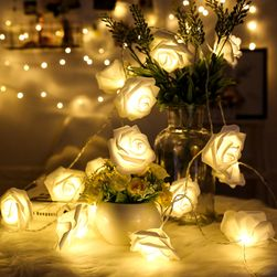 LED fénylánc rózsákkal