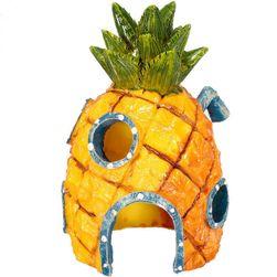 Akvarijní dekorace - domeček z ananasu