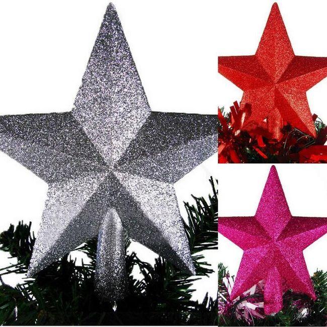 Vánoční hvězda - dekorace na stromeček 1
