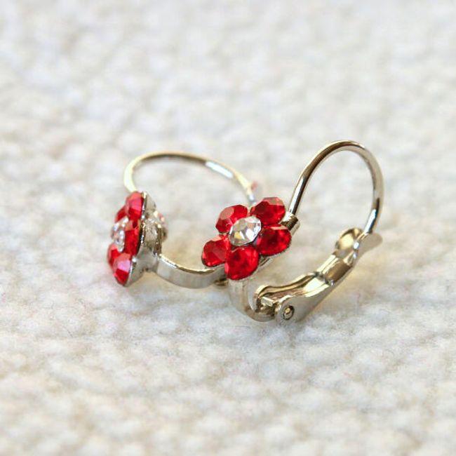 Fülbevalók kis virágokkal 1