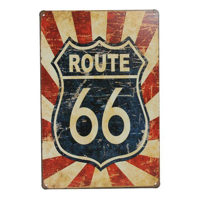 Pot 66 kovinski znak 1
