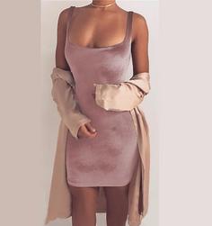Dámské sametové sexy šaty s hlubokým výstřihem - různé druhy