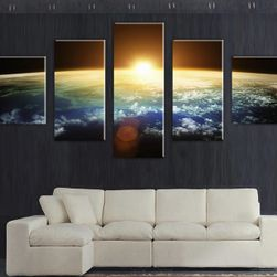 Imagine din 5 părți cu apus de soare