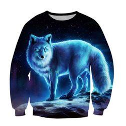 Unisex pulóver farkassal