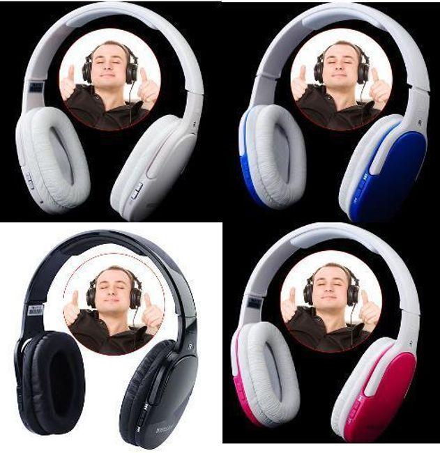 Bezdrátová sluchátka se zabudovaným MP3 přehrávačem na microSD 1