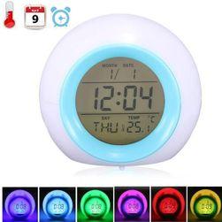 Svítící LED budík - mění 7 barev