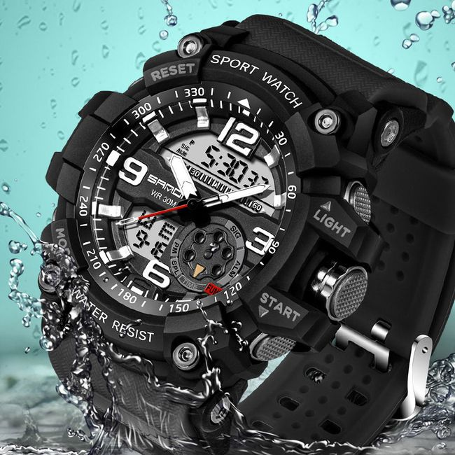 Męski sportowy zegarek z oświetleniem LED 1