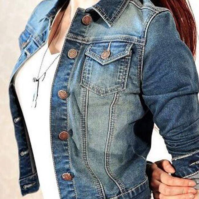Krátká džínová bunda - velikost č. 2 1