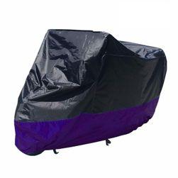 Védő ponyva motorkerékpárhoz fekete és lila színben