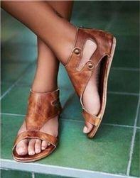 Páskové sandále pro dámy - černá-38