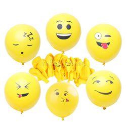 Zestaw nadmuchiwanych balonów emoji - 20 sztuk