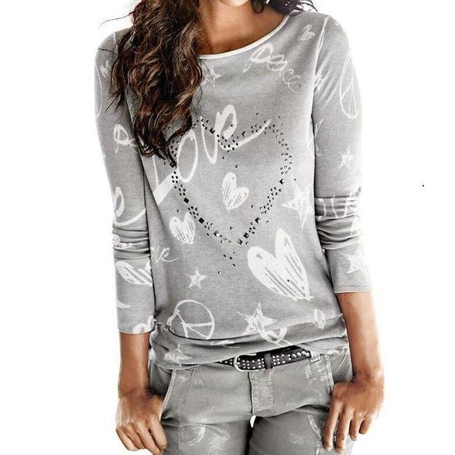Dámské tričko s dlouhým rukávem Dayana 1