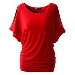 Женская футболка с открытыми плечами Красный, размер M/L