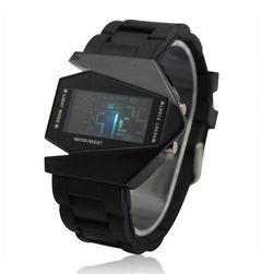 Futurystyczny zegarek cyfrowy LED - 6 kolorów