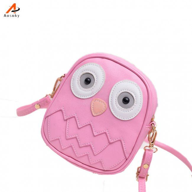 Dívčí mini kabelka v podobě sovičky - Růžová 1