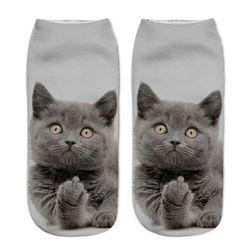 Чорапи до глезена с котенце - 27 варианти