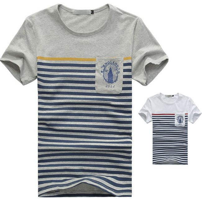 Originální pánské pruhované tričko - 2 barvy 1