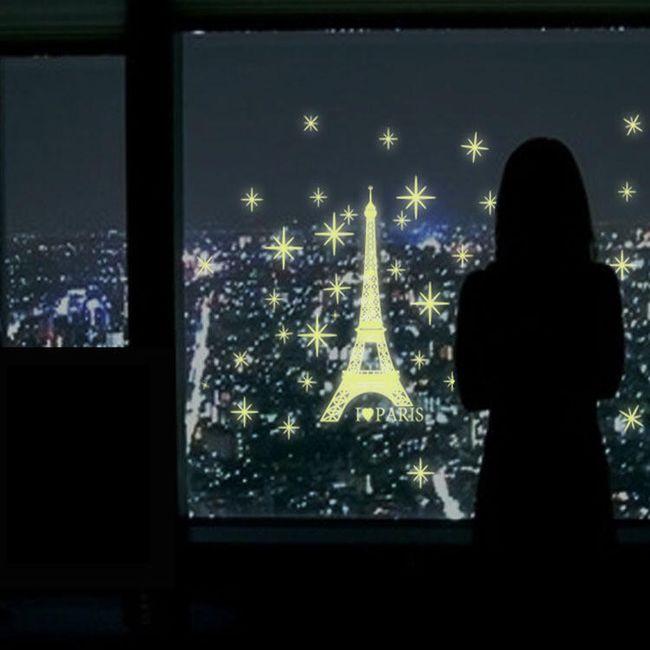 Matrica a falra - világító Eiffel torony 1