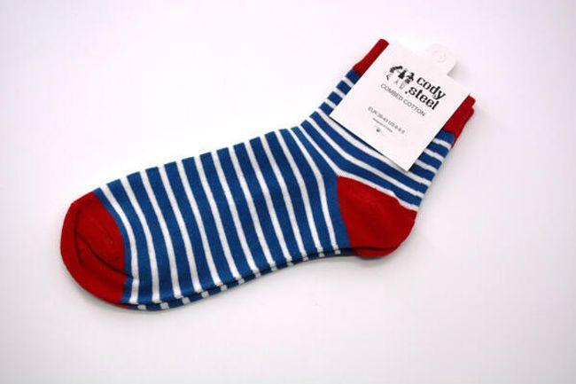 Férfi zokni csíkokkal - 12 változat