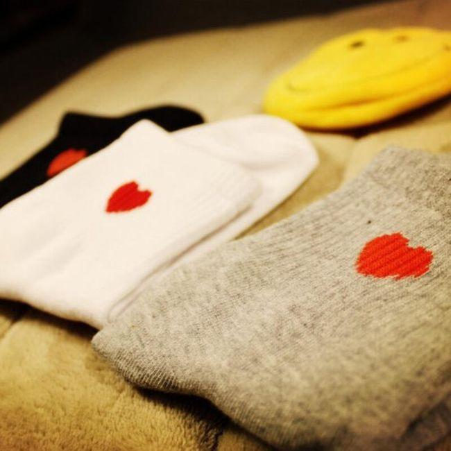 Hosszú zokni szívvel - 3 szín