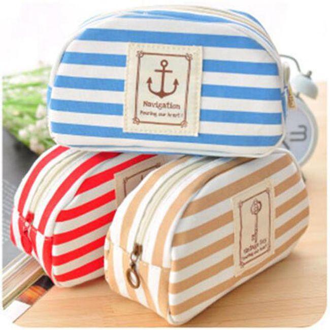 Kosmetická taška s námořnickým motivem - 3 barvy 1