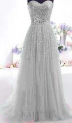 Dolga svečana obleka brez naramnic - 4 barve 4-velikost 2