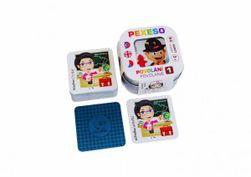 Pexeso 64 de cărți impermeabile în cutie de tablă 6x6x4cm RM_10770040