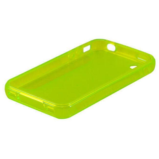 Průhledné ochranné pouzdro pro iPhone 4 a 4S - žlutozelené polomatné 1