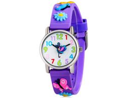 Детски часовник за момичета в лилаво