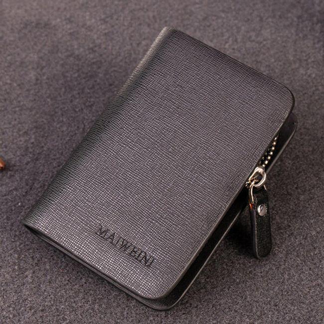 Divatos férfi cipzáras pénztárca kulcstartóval - 4 szín