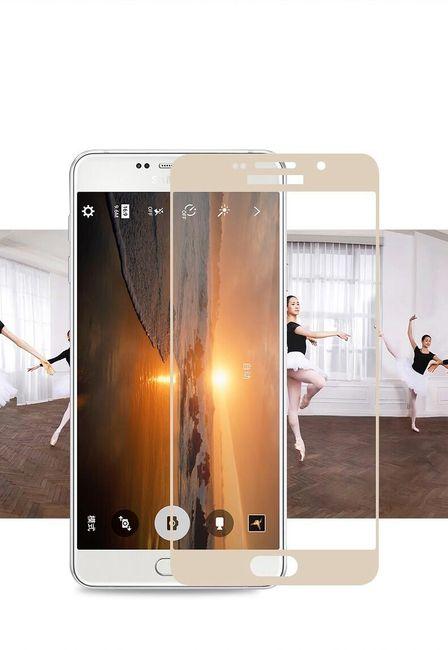 Tvrzené transparentní sklo pro Samsung s barevným lemem - 4 barvy 1
