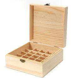 Dřevěná šperkovnice - 25 přihrádek