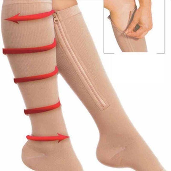 Компресиращи чорапи със закопчаване с цип 1