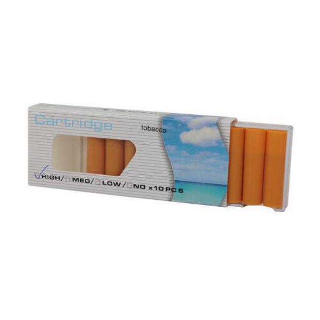 Balení 10 cartridgí do e-cigarety - bez příchutě, vysoký obsah nikotinu 1