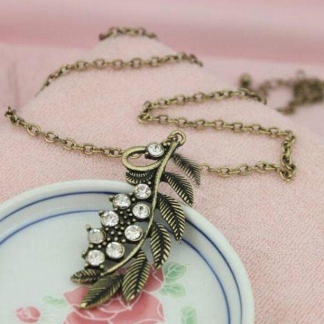 Vintage náhrdelník s přívěskem větvičky 1
