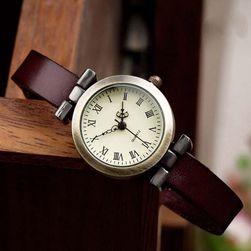 Dámské hodinky z umělé kůže - římské číslice
