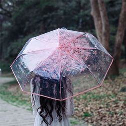 Průhledný deštník - elegantní