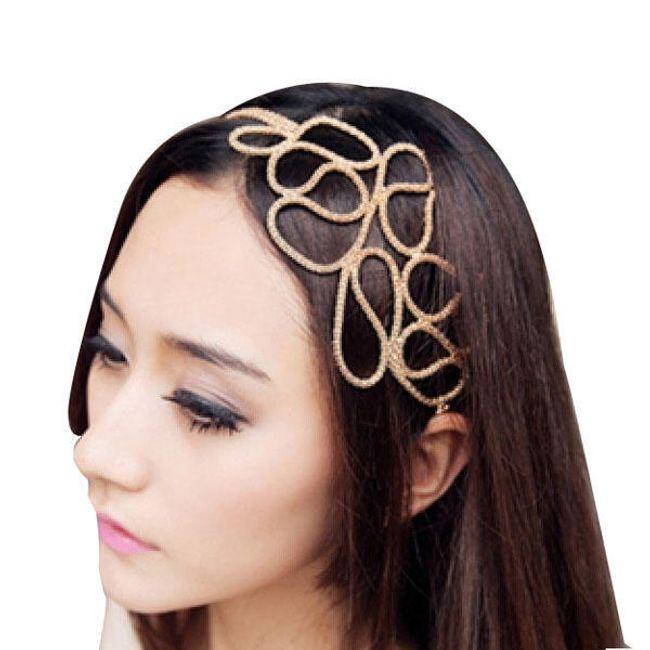 Originální čelenka do vlasů ve zlaté barvě 1