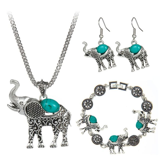 Sada šperků se slony - různé barvy 1