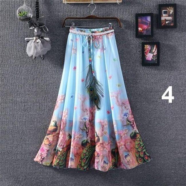 Lehoučká dlouhá sukně na jaro i léto - varianta 4 1