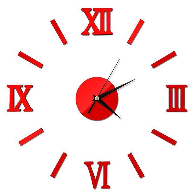 Nalepnica za zid - sat sa rimskim brojevima 1