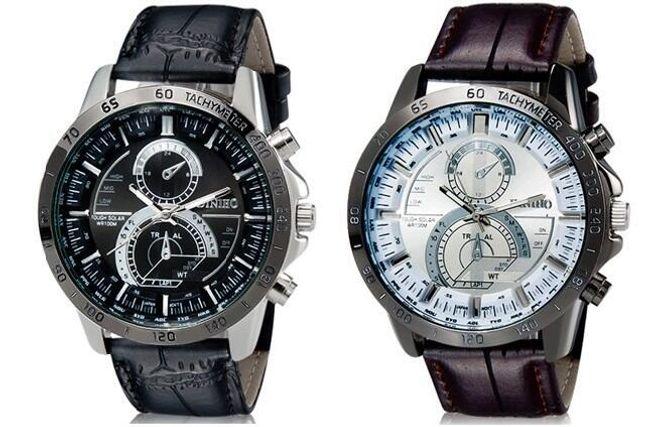 Męski zegarek Diniho - kolor czarny lub brązowy 1