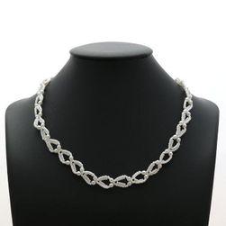 Svatební náhrdelník srdíčka z perel