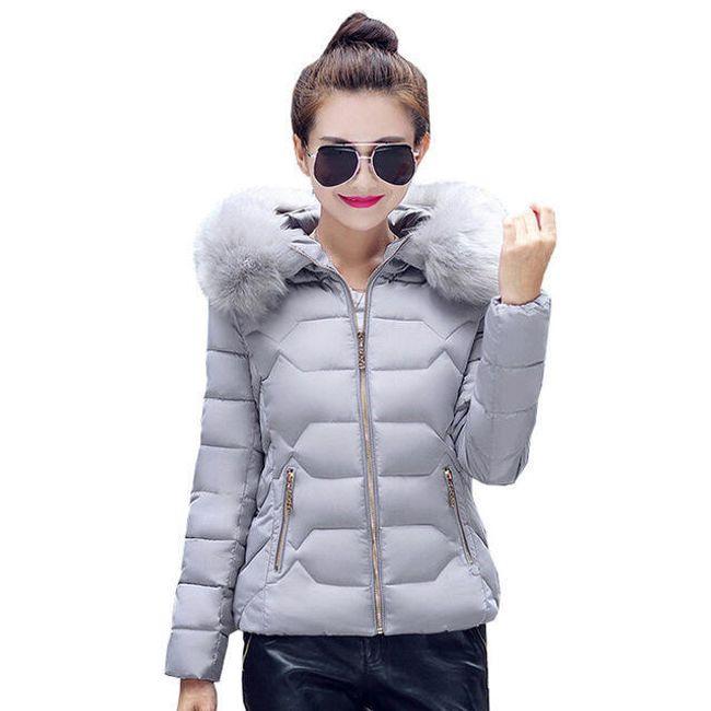 Stylová bunda s kožíškem - 3_velikost č. 6 1