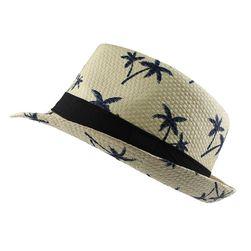 Slaměný klobouk s palmami