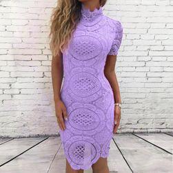 Krajkové šaty s límečkem
