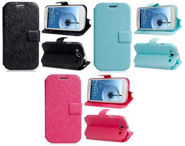 Ochronne skórzane etui do Samsung Galaxy S3 - trzy kolory 1
