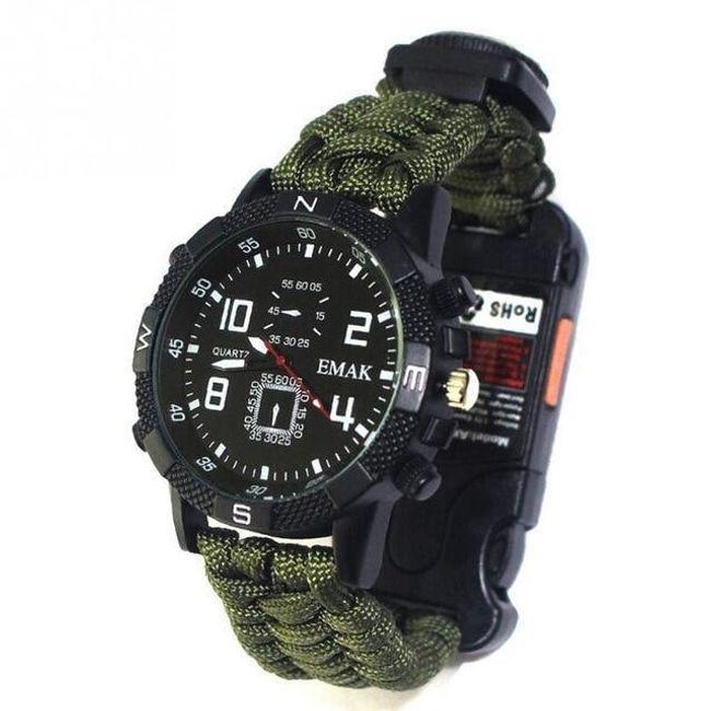 Taktični paracord sat sa kompasom Rocky 1